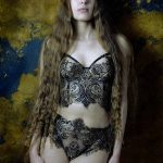 Celestial Bodies pt. 2 by Karolina Laskowska Lingerie. Photography by Jenni Hampshire, modelled by Yazzmin Newell.
