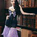 Nightshade corset by Karolina Laskowska, photography by Chris Murray, modelled by Threnody in Velvet