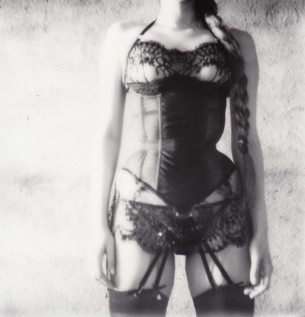 Taakeferd quarter cup bobbinet tulle corset. Photo by A. Lindseth