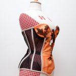 Tokeiso Cupped Kimono Silk Sheer Corset by Karolina Laskowska