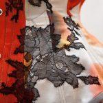 Tokeiso Overbust Kimono Silk Corset by Karolina Laskowska