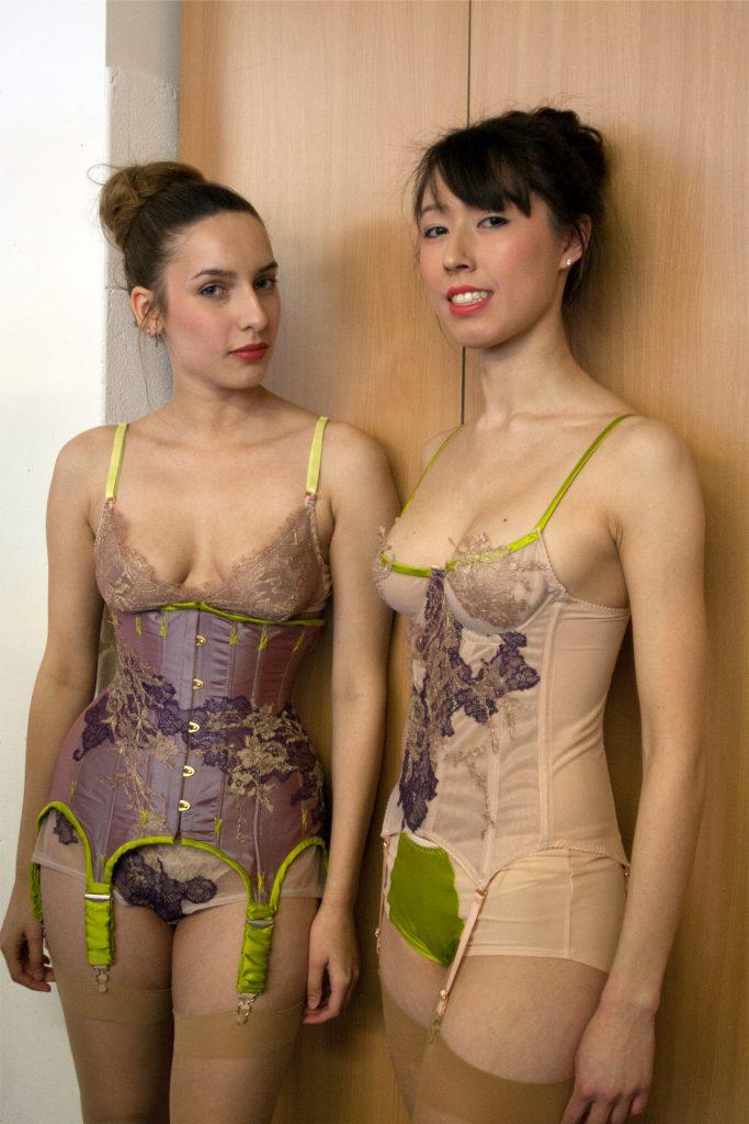 Syru Blom Silk Underbust Suspender Corset by Karolina Laskowska