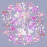 Fuchsia Silk Scarf Design. Design by Karolina Laskowska