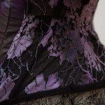 Dark Clematis Corset by Karolina Laskowska