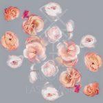 Scattered Roses Silk Scarf by Karolina Laskowska